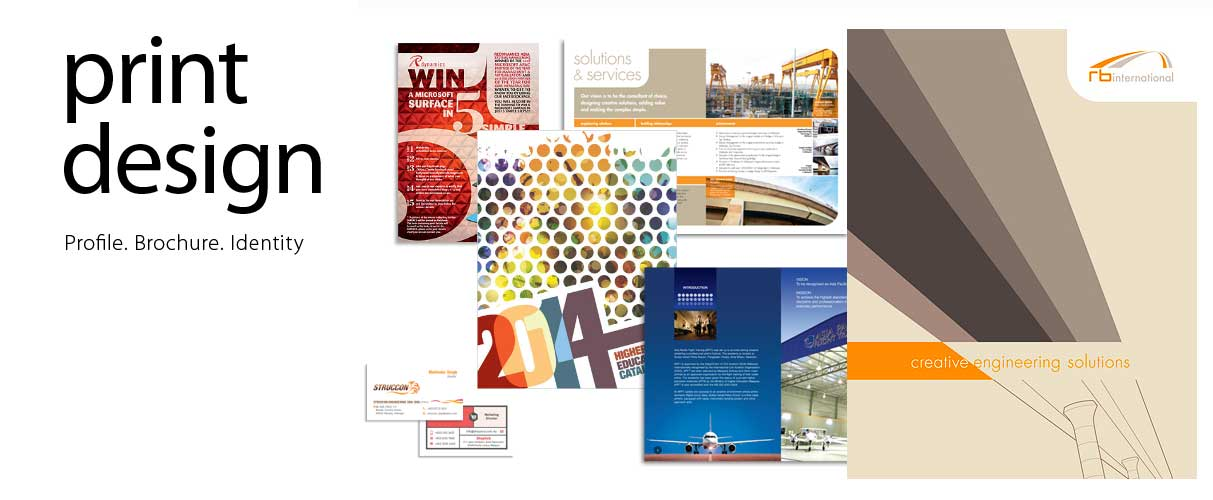 Company profiles, brochures, brand identity
