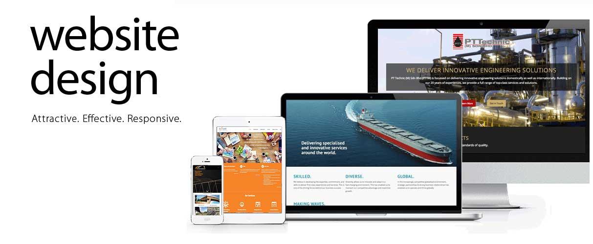 Attractive and responsive corporate websites